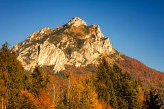 伟大的Rozsutec小山在一个国家公园Mala Fatra 库存图片