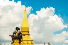 伟大的Stupa在万象,老挝 库存图片