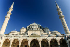 伟大的Suleymaniye清真寺,伊斯坦布尔,土耳其 库存照片