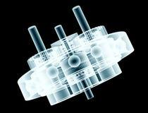 传动箱的X-射线图象 库存例证