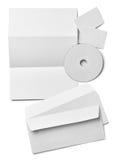传单信件名片白色白纸模板 图库摄影