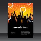 传单或盖子设计-当事人时间 免版税库存图片