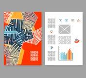 传单,小叶,小册子格式 编辑可能的设计模板A4 库存图片