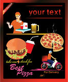 传单,食物饭菜外卖点 免版税库存图片