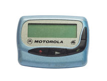 传呼器是非常普遍的设备在20世纪90年代之内 免版税库存图片