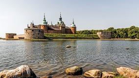 传奇城堡在卡尔马,瑞典 库存照片