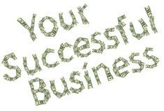 传奇您成功的事务由美元做成作为p的标志 免版税库存照片