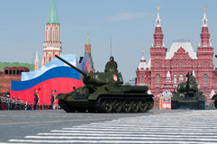 传奇苏联中型油箱T-34 图库摄影
