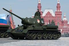 传奇苏联中型油箱T-34 免版税图库摄影
