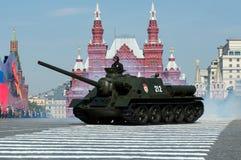 传奇苏联反坦克装甲车SU-100 库存照片
