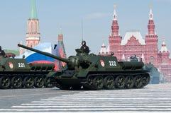 传奇苏联反坦克装甲车SU-100 免版税库存照片