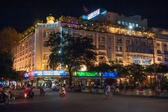 传奇雷克斯旅馆,西贡 库存照片