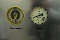传感器在消毒作用压热器室牙科里 库存照片