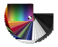 传播颜色图表 库存照片