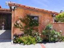 传教士的住宅在Carmel使命博物馆 免版税库存图片