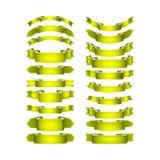 传染媒介上色了缎丝带被设置 免版税库存图片