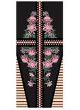 传染媒介与菊花和牡丹的礼服设计 免版税库存照片