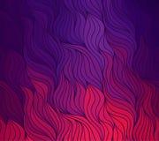 传染媒介乱画手拉的线波浪背景  库存例证