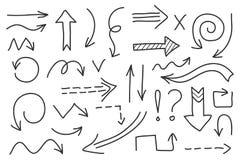 传染媒介乱画箭头集合 被隔绝的标志,设计元素 库存照片