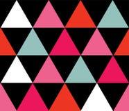 传染媒介五颜六色的三角无缝的样式背景 向量例证