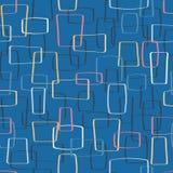 传染媒介五颜六色的Mod塑造无缝的样式背景 库存例证