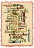 传染媒介佳能对尼康摄影 库存图片