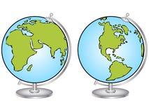 传染媒介例证动画片地球 免版税库存图片