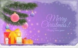 传染媒介例证圣诞节和新年 皇族释放例证