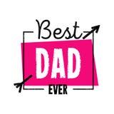 传染媒介例证在父亲s天特别地设计 最佳的爸爸  库存照片