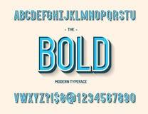 传染媒介例证大胆的现代字体3d样式 免版税图库摄影