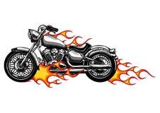 传染媒介例证火焰状自行车砍刀乘驾正面图 库存例证
