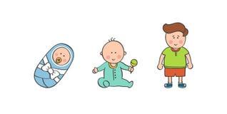 传染媒介例证男婴年龄 图库摄影