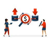 传染媒介例证的事务和促进 好主题词和SEO在网站增量做活动 下载和加载在网 皇族释放例证