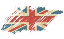 传染媒介例证英国的葡萄酒旗子 脏的英国旗子 传染媒介难看的东西减速火箭的设计大英国旗子背景 皇族释放例证