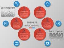 传染媒介例证infographics 6个选择 小册子的模板,事务,网络设计eps 10 向量例证