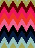 传染媒介八颜色之字形无缝的样式背景 向量例证