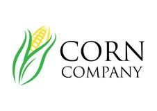 传染媒介公司商标的玉米农场 库存图片