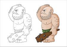 传染媒介动画片一个坚韧卑鄙肌肉残暴的人或巨人的剪贴美术例证 皇族释放例证