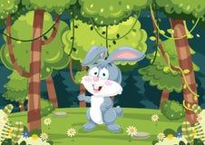 传染媒介动画片兔子Iluustration  免版税库存照片