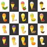 传染媒介动画片冰淇凌背景 皇族释放例证