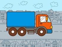 传染媒介动画片卡车 皇族释放例证