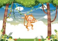 传染媒介动画片猴子Iluustration  库存照片