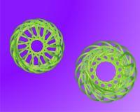 传染媒介可变的梯度液体抽象几何形状 皇族释放例证
