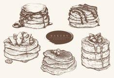 传染媒介各种各样的种类的集合例证薄煎饼 向量例证