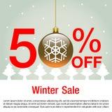 传染媒介和例证圣诞节销售背景的 冬天销售背景传染媒介 库存图片