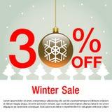 传染媒介和例证圣诞节销售背景的 冬天销售背景传染媒介 免版税库存图片