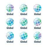 传染媒介商标地球 免版税库存图片