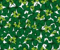 传染媒介圣徒Patricks天无缝的样式 三叶草,三叶草, 免版税库存照片