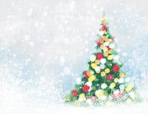 传染媒介圣诞树卡片 库存照片