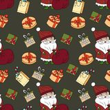 传染媒介圣诞节无缝的样式 图库摄影